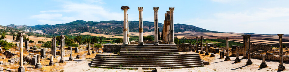 Volubilis, Morocco - touristic attraction and a Roman archaeological site