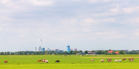 Panoramic view of the Amsterdam Southeast office area (Bijlmer)