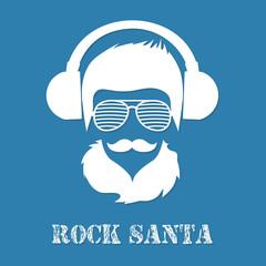 Rock Santa Claus character illustration