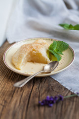 food- pears roasted in French couscous. Recipe. food, cooking and baking. Easy, pyszky and fast dessert.