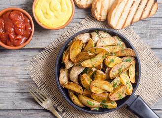 Roasted potato with parsley