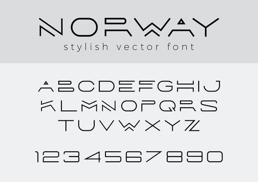 Design vector linear Font Title Header Lettering Logo Monogram
