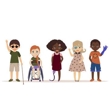 Special needs children. Children with disabilities