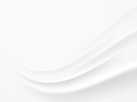 Abstract white wave background