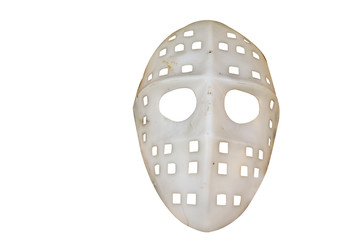 White hockey mask from the old horror film