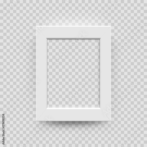 photo picture frame white paper plastic or wooden 3d template