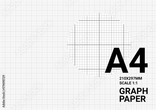 graph paper background with vector blue plotting millimeter ruler