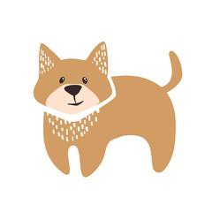 Cute dog logo.