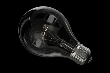 Incandescent Lightbulb isolated on black