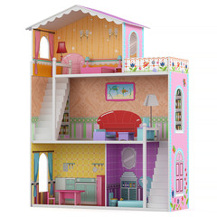 3d Rendering of a doll house on white background