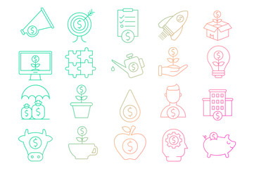 Investments icon collection