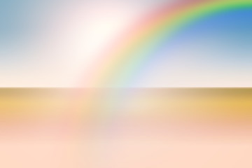 Abstract art background blurred and light style with rainbow