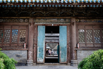 Facade and door of the Chinese mosque of Xi'an