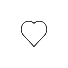 love Icon. line style vector illustration