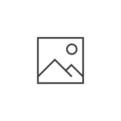 image Icon. line style vector illustration
