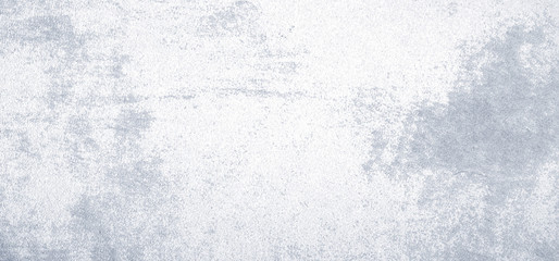 Fotobehang - Blank white and gray grunge cement wall texture background, banner, interior design background