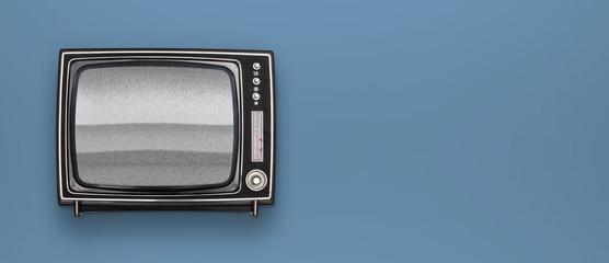 Retro black and white television header