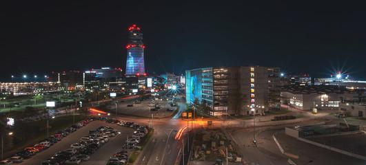 Airport Vienna VIE by night