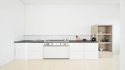 Modern kitchen interior.3d rendering