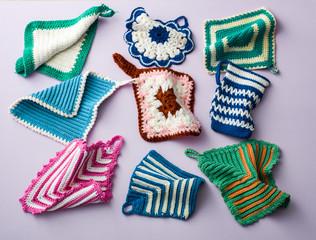 Crochet pot cloth