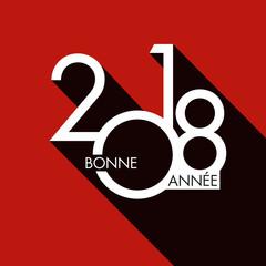 2018 - carte de vœux - design - entreprise - carré - graphique - rouge