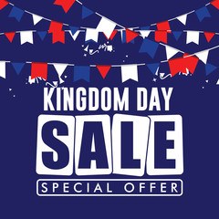 Kingdom Day Sale Special Offer Vector Template Design