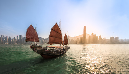 Victoria Harbour and The boat