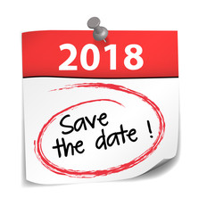 post-it almanach : save the date 2018