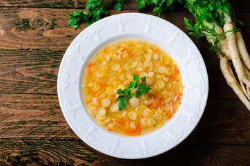 Pea Soup, Vegetarian and Vegan Pea Soup