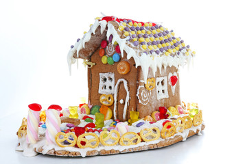 Candy house. Christmas gingerbread home.