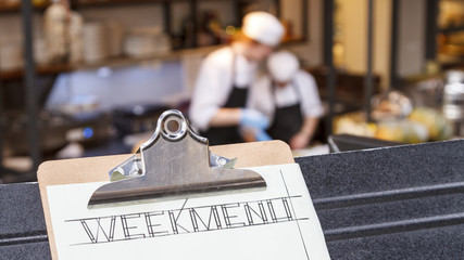 Week menu clipboard two