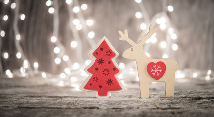Christmas or New Year greeting card