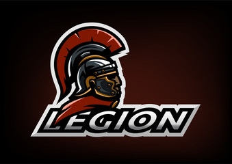 Roman Legionnaire logo on a dark background.