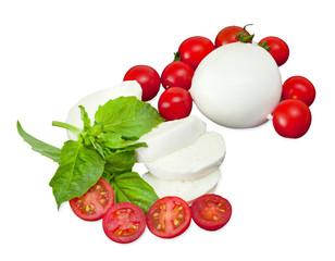 Mozzarella di Bufala, fresh cheese, italian dairy product.
