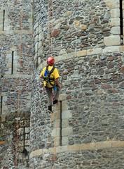 Travaux sur le château de Fougères
