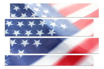 American Flag Zoom Burst Art High Quality