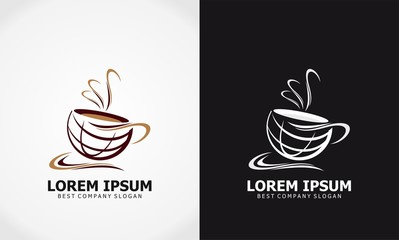 cup coffee icon vector logo