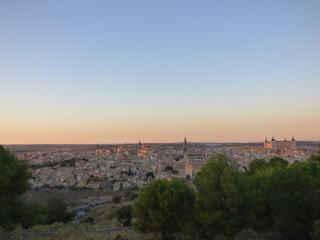 Toledo al atardecer. Ciudad historica de Toledo, Castilla La Mancha
