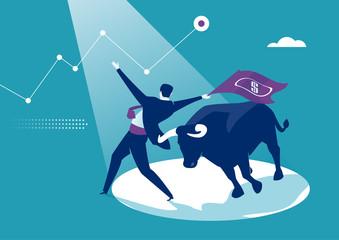 Bullish Market. Concept business illustration