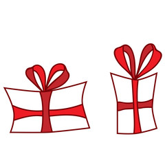 Isolated red gift on the white background