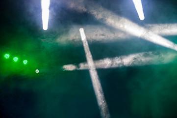 light during a concert