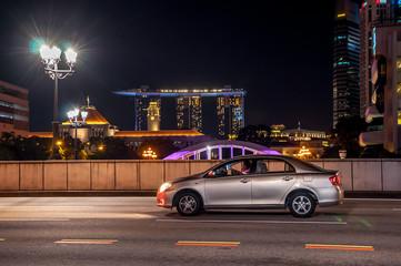 Rue de Singapour la nuit
