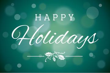 Dark Green Soft Focus Happy Holidays Vector Horizontal Background 1