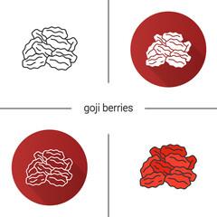 Dried goji berries icon