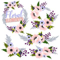 Beautiful floral design. Vector Illustration