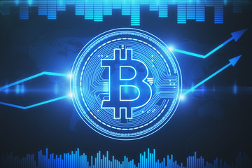 Cryptocurrency and cyberspace concept