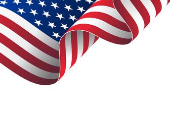 Illustration of waving USA flag.