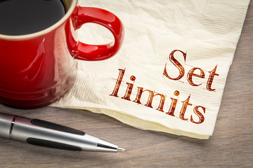 Set limits - productivity advice on napkin