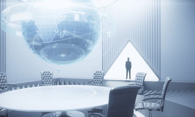 International business and futuristic concept