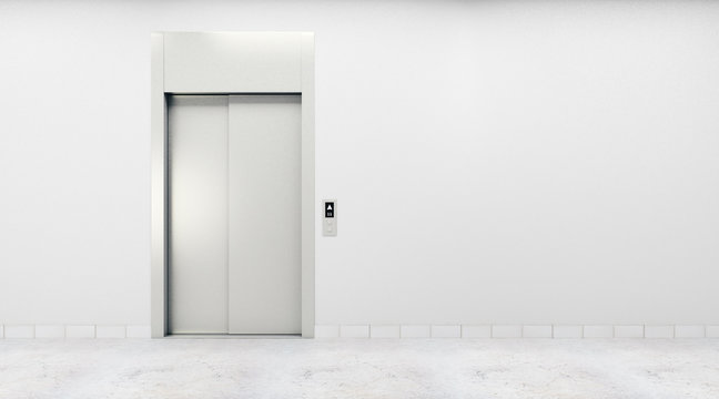Room with lift and blank wall